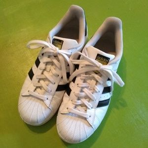 Adidas Superstar Sneakers White with Black Stripes